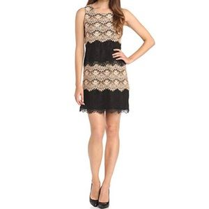 Jessica Simpson tiered lace sheath dress